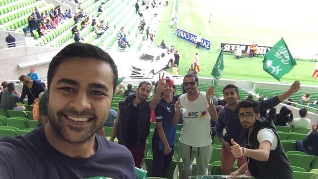 مشجعوا المنتخب السعودي