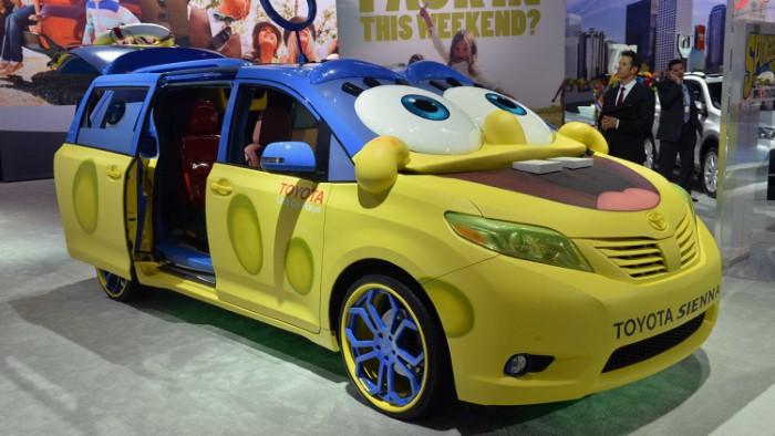 1 2015 oyota sienna spongebob سيارة تويوتا سبونج بوب