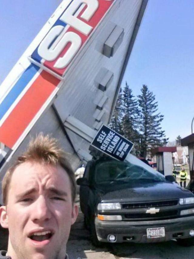 حادث سيارات مضحكة