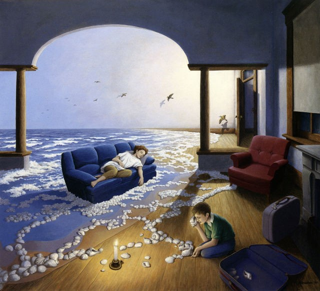 لوحات رسم سحرية تمزج الواقع مع الخيال