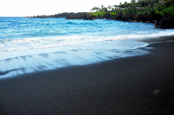 Black sand beatches