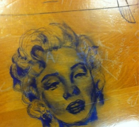 doodles desk art