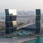 أبراج الزقزاق المتعرجة في الدوحة قطر