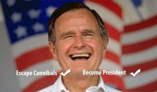 حقائق مقرفة جورج بوش الأب
