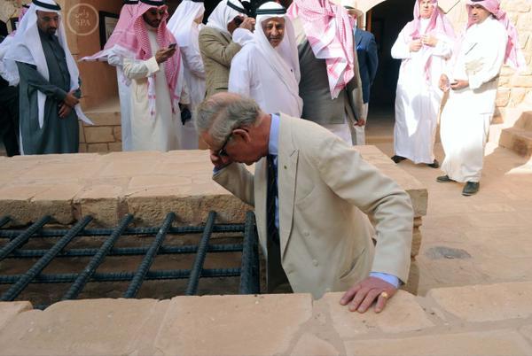 صور زيارة الأمير تشارلز للعلا