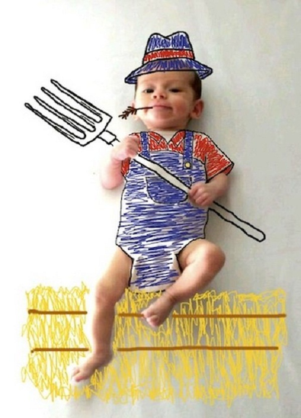 طفل مزارع
