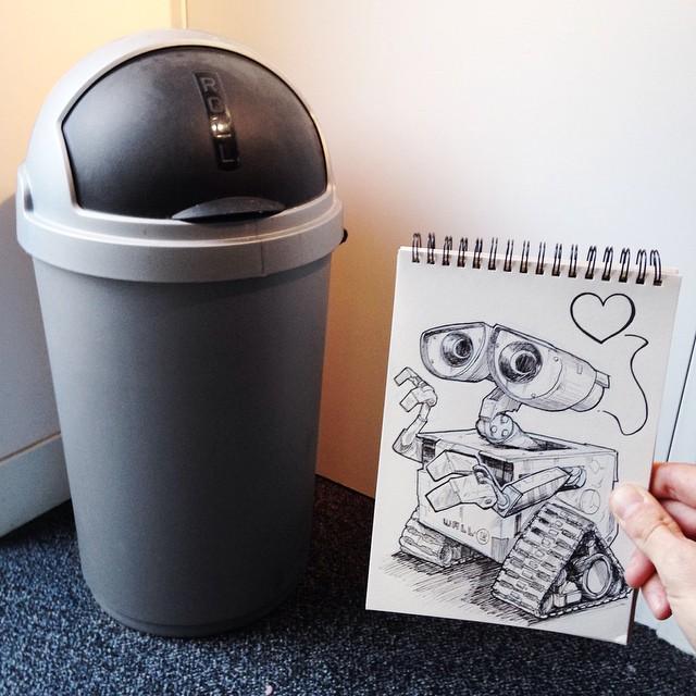 رسم فني وابداع رسومي تفاعل مع الحياة الحقيقية