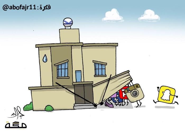 كاريكاتير الخصوصية في الشبكات الاجتماعية