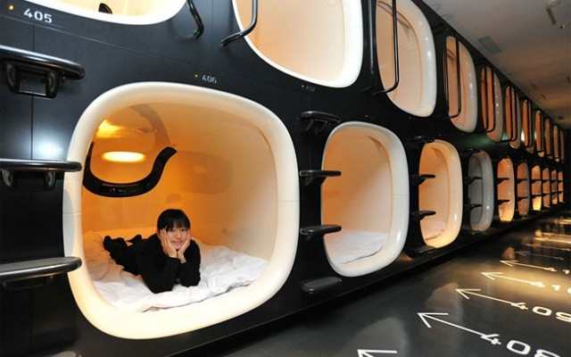 صور: فندق الكبسولات في اليابان
