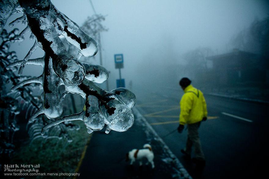 عاصفة جليدية