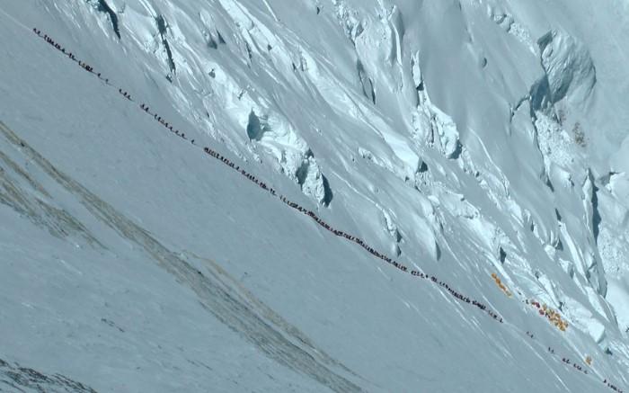 متسلقون على جبل إيفرست