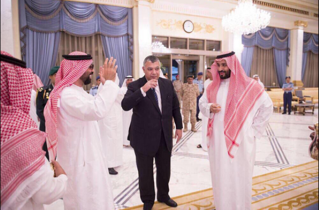 محمد بن سلمان والشيخ طحنون بن زايد