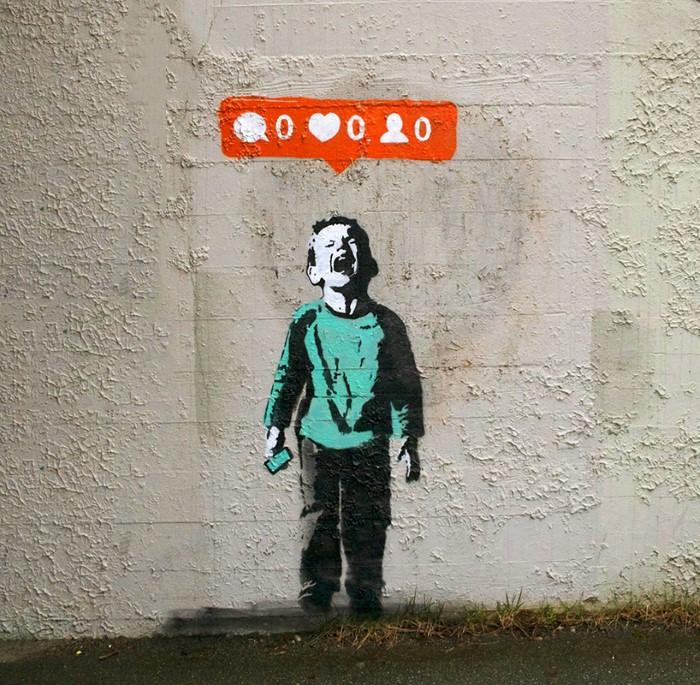 رسومات جرافيتي تعكس حياتنا الافتراضية