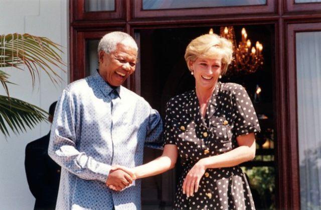 الأميرة ديانا ونيلسون مانديلا، كيب تاون، 1997