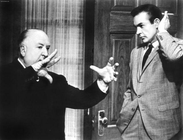 شون كونري وألفريد هيتشكوك، 1964