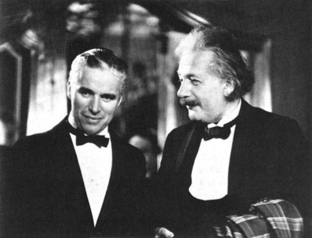 ألبرت أينشتاين وشارلي شابلن