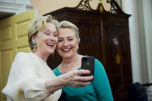 هيلاري كلينتون وميريل ستريب
