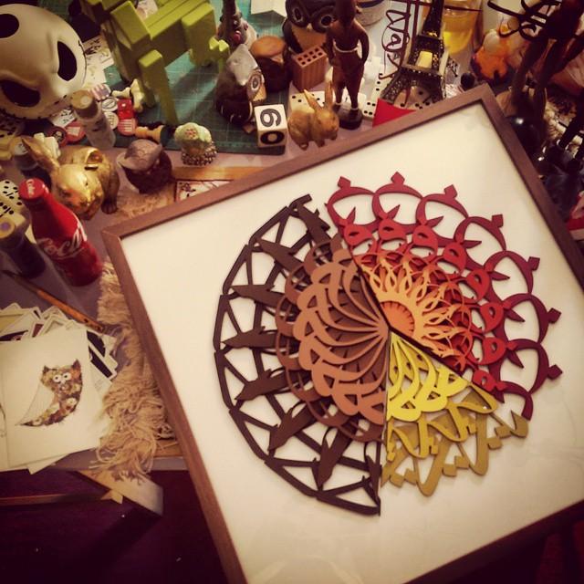 الإبداع في لوحات الزخارف العربية والاسلامية مع  طي