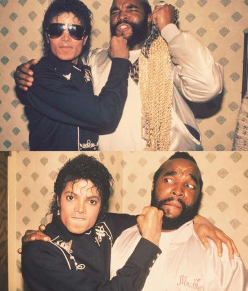 """مايكل جاكسون والسيد """"تي"""""""