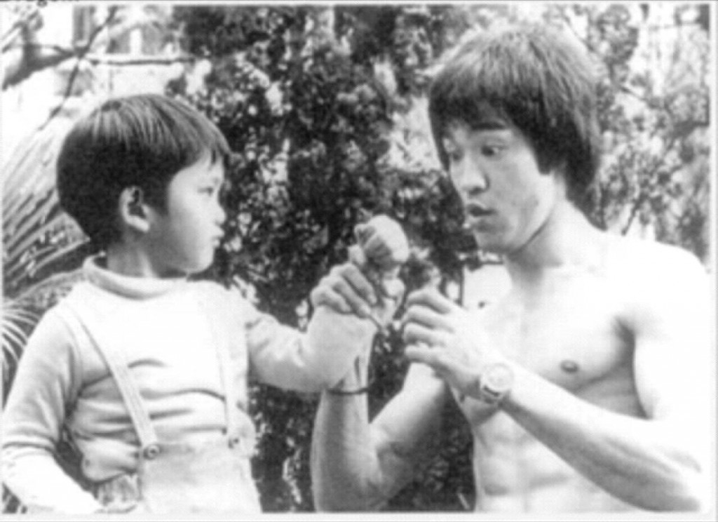 Bruce Lee and child