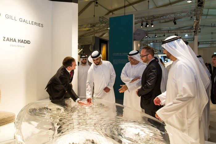 Design Days Dubai 2015 HH Sheikh Mansour David Gill Gallery Zaha Hadid table