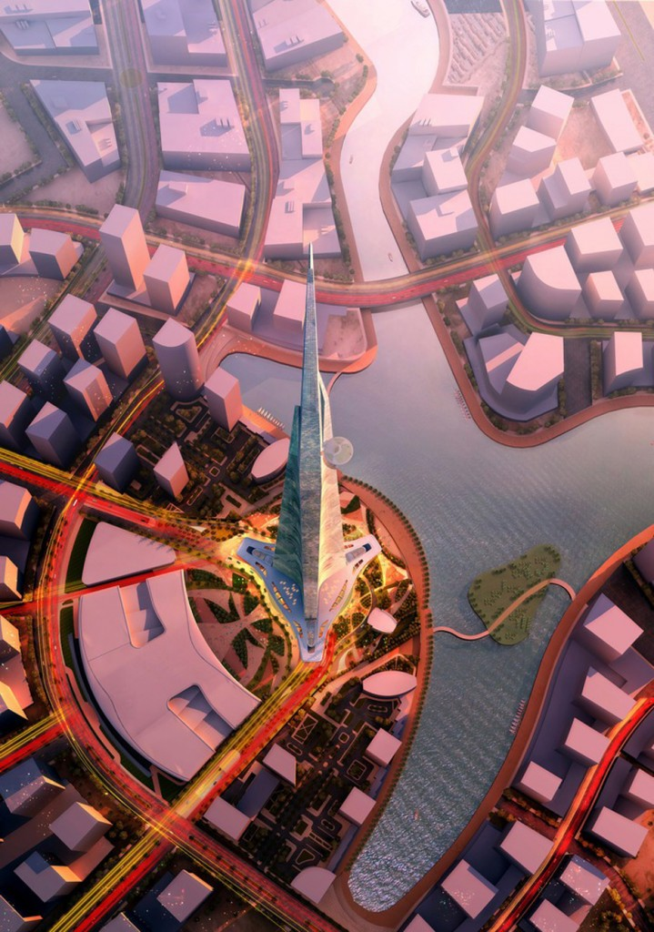 Kingdom Tower Aerial View