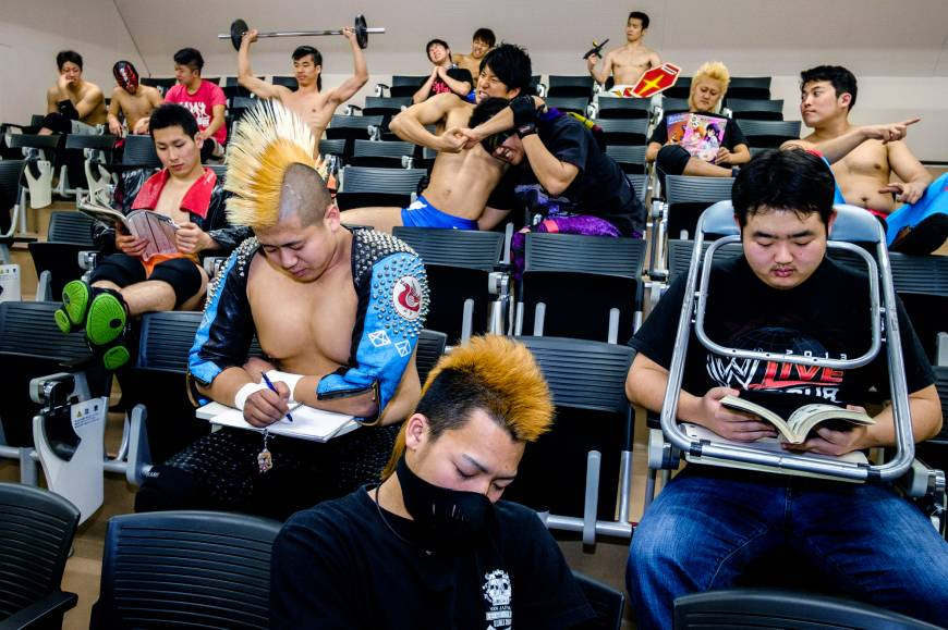 Student wrestlers