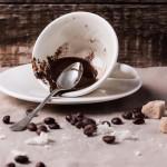 بقايا القهوة