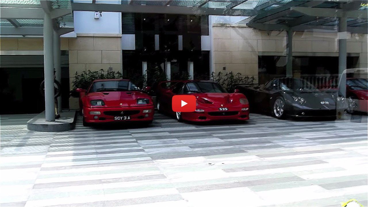 فيديو: أندر سيارات فيراري بحوزة ثري سنغافوري