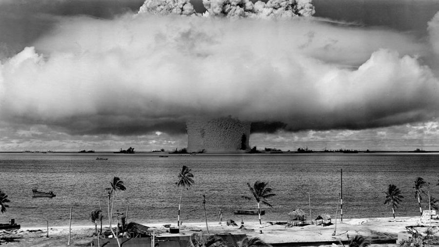 اختبار آثار القنبلة الذرية
