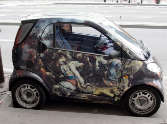 سيارة ذكية مستوحاة من لوحة فنية