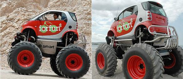 سيارة مستوحاة الشاحنات الضخمة