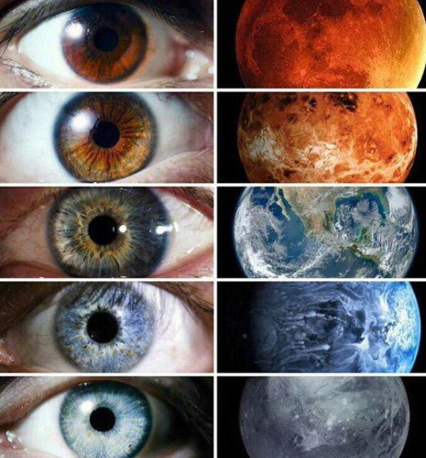 عيون بألوان الكواكب