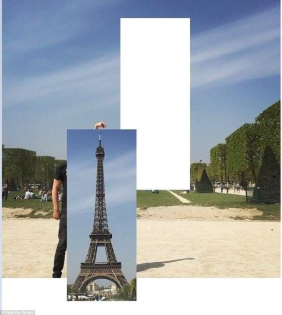 صور مضحكة لشاب طلب تعديل صورته بجانب برج إيفل2