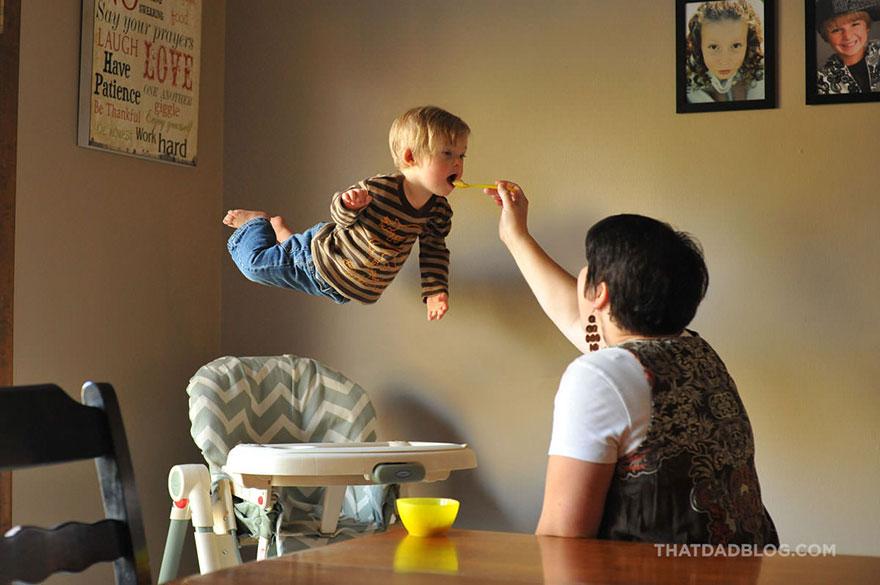 طفل مصاب بمتلازمة داون يطير
