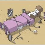 كاريكاتير النوم .. والتقنية
