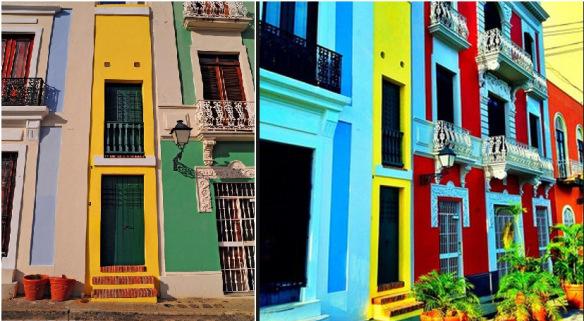 منازل صغيرة في سان خوان القديمة