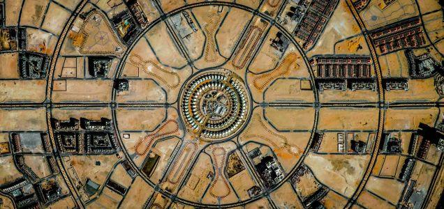 لسطح الأرض ألتقطت هذه الأشكال الهندسية..~
