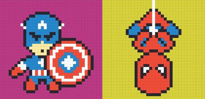 مصمم يستخدم الملصقات التذكيرية لصنع لوحات الأبطال الخارقين