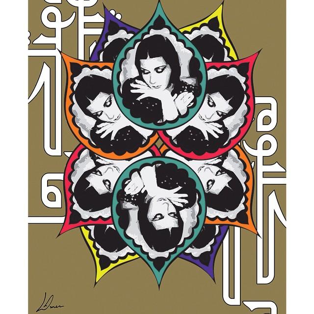 الهوية العربية بالألوان والحروف مع المبدعة السعودية لينا _lina_amer_ على انستقرام