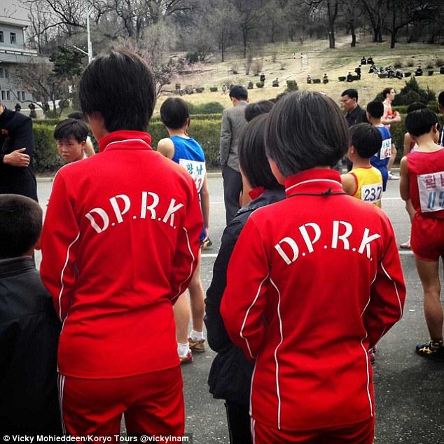 -North -Korea's Pyongyang- marathon614