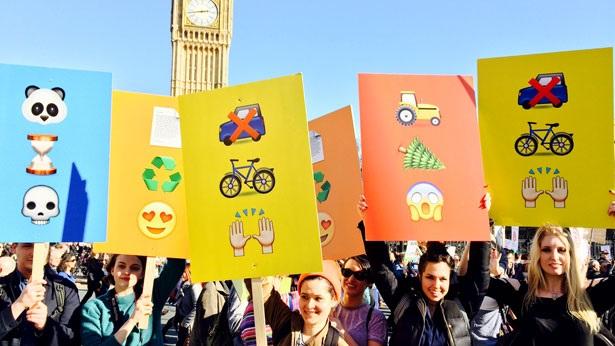 emoji protest
