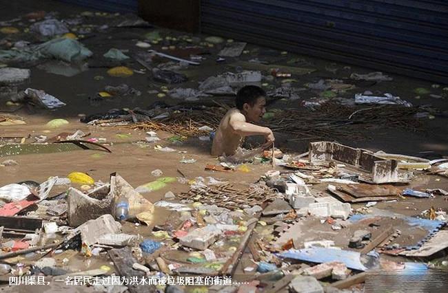 آثار الفيضانات في الصين
