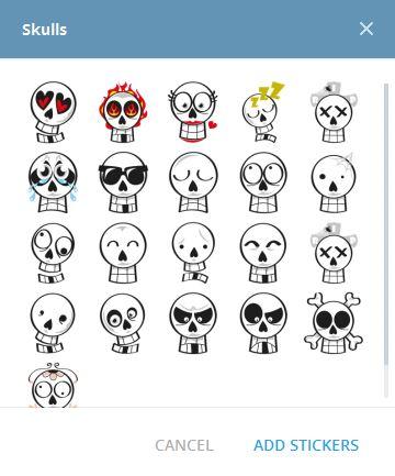 Skulls - أضف الاستيكر