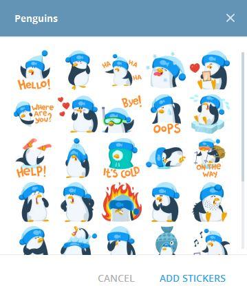 استيكرات penguin