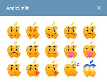 استيكرات AppleSmile