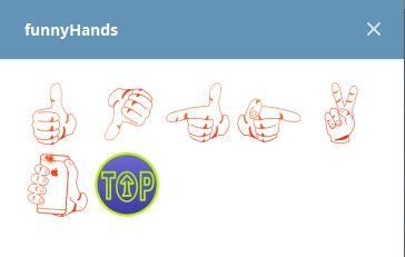 استيكرات Funny Hands