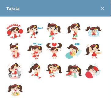 استيكرات Takita