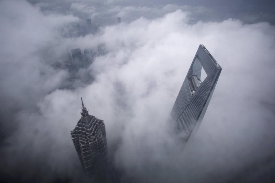 برج شنغهاي المالي العالمي وبرج جين ماو