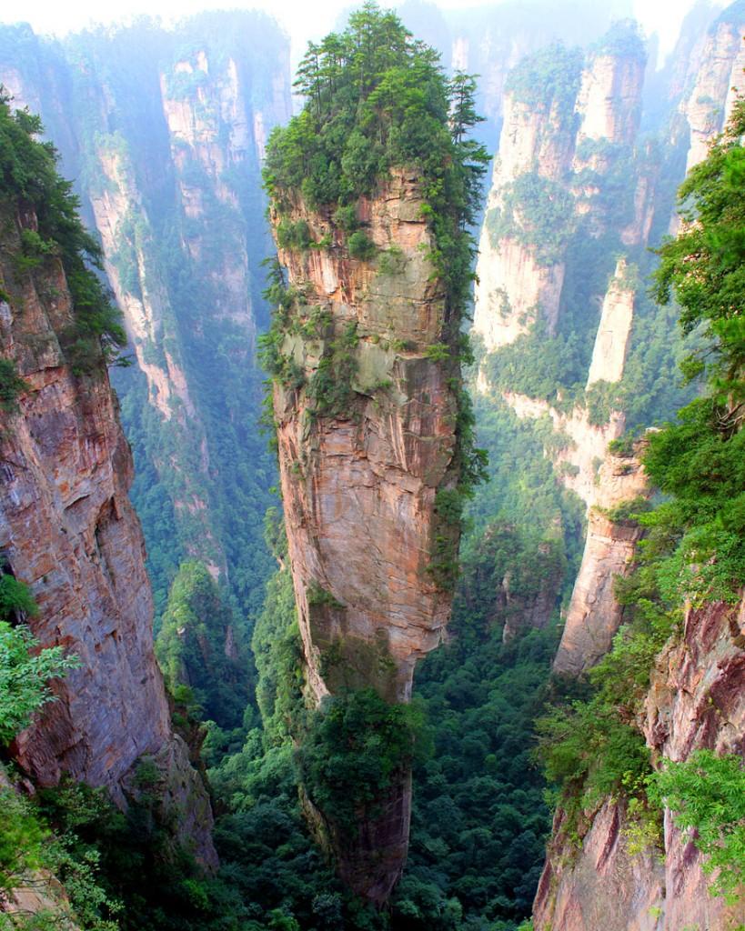 جبال تيانزى في الصين
